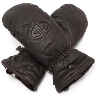 Goldbergh Hilja Logo-embossed Leather Ski Mittens - Black