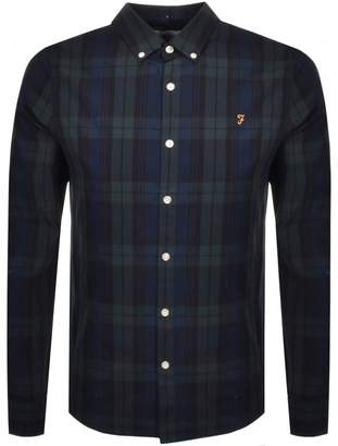 Farah Brewer Tartan Shirt Green