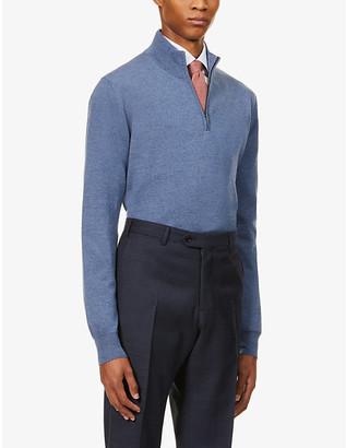 Pal Zileri Half-zip funnel-neck wool jumper