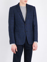 Armani Collezioni Slim-fit checked wool-blend jacket