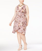 Love Squared Trendy Plus Size Ruffled Faux-Wrap Dress