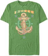 Fifth Sun Men's Tee Shirts LIME - Lime Heather Anchor Tee - Men