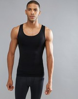 Spanx Performance Singlet Zoned Hard Core In Black