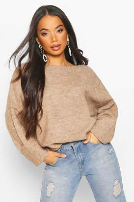 boohoo Petite Soft Knit Slouchy Jumper