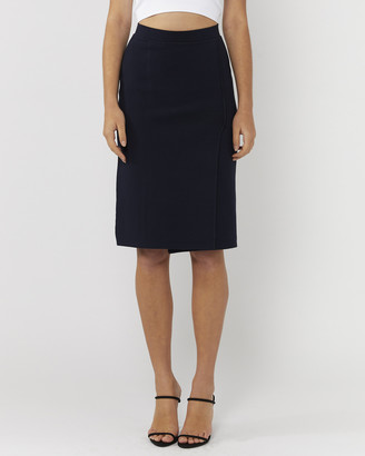 Everly Collective - Women's Blue Pencil skirts - The Other Side Wrap Skirt - Size One Size, XS at The Iconic