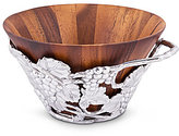 Arthur Court Grape Wood Salad Bowl with Holder
