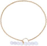 Saskia Diez Barbelle Sky Gold-plated Chalcedony Bracelet
