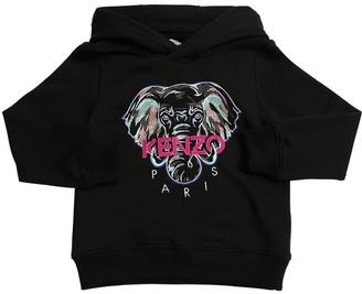 Kenzo Embroidered Cotton Sweatshirt Hoodie