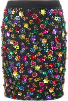 Moschino floral embellished skirt - women - Cotton/Acetate/Rayon - 38