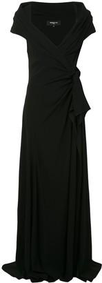 Paule Ka Envers draped-side gown