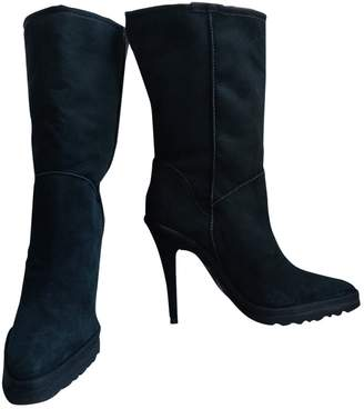 Y/Project Black Suede Ankle boots