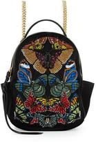 Alexander McQueen Butterfly Small Chain Backpack, Black/Multi