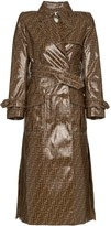 Fendi FF print plastic-finish trench coat