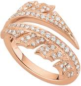 Stephen Webster Rose Gold Magnipheasant Pavé Diamond Split Ring, One Size