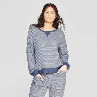 Stars Above Women's Striped Perfectly Cozy Lounge Sweatshirt - Stars Above Navy