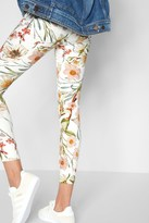 7 For All Mankind Ankle Skinny With Destroy In Tropical Print