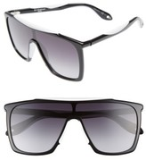 Givenchy Men's 99Mm Oversize Sunglasses - Black White
