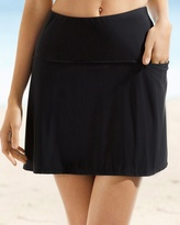 Soma Intimates Fit and Flair Swim Skirt Bottom Black