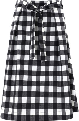 MSGM Checked Belted Midi Skirt
