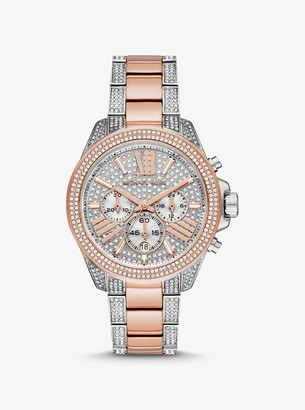 Michael Kors Wren Pave Two-Tone Watch