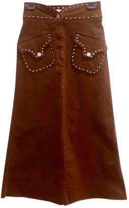 Alberta Ferretti Brown Denim - Jeans Skirt for Women