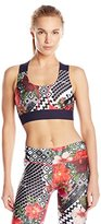 Desigual Women's Mid Impact T Shirt and Bra w/ Flower Print