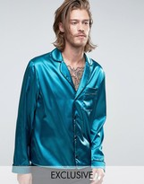 Reclaimed Vintage Inspired Pajama Shirt In Regular Fit
