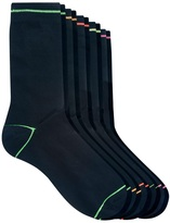 Asos 5 Pack Socks With Neon Trim