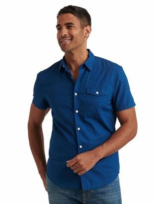 Lucky Brand Men's Short Sleeve Button Up One Pocket Monroe Shirt