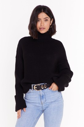 Nasty Gal Womens That's How We Roll Cable Knit Jumper - Black - L
