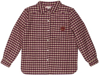 Bonpoint Checked wool-blend shirt