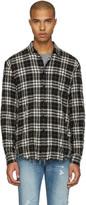 Saint Laurent Black Check Wrinkled Shirt