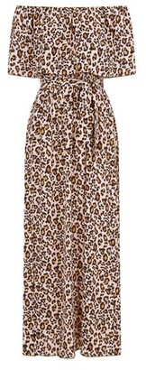 Dorothy Perkins Womens Girls On Film Leopard Print Maxi Cotton Mix Dress