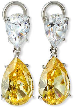 FANTASIA Double-Teardrop Cubic Zirconia Earrings