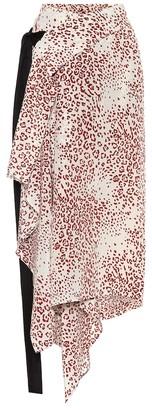 Petar Petrov Reva printed silk midi wrap skirt