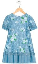 Tadashi Shoji Girls' Embroidered Pleated Dress