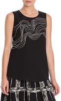 Nic+Zoe &Urbanite& Embroidered Sleeveless Blouse (Petite)