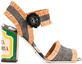 Dolce & Gabbana raffia keira straw sandals