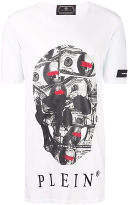 Philipp Plein Dollar Bill Skull T-shirt