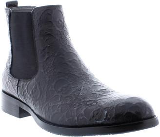 Robert Graham Men's Driscoll Skull-Embossed Chelsea Boots
