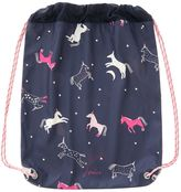 Joules Girls Horse Print Rubber Drawstring Bag