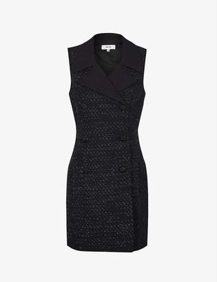 Reiss Maevie metallic-thread tuxedo dress