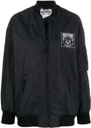 Moschino logo bomber jacket