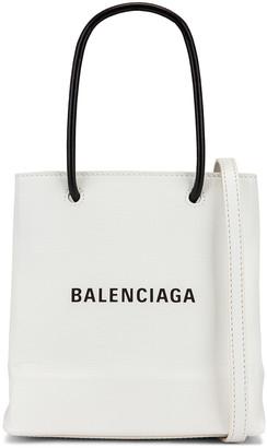 Balenciaga XXS Shopping Tote Bag in White   FWRD