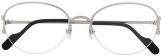 Cartier Eyewear Oval Frame Sunglasses