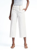 Banana Republic Blake-Fit Cropped Wide-Leg Sateen Sailor Pant