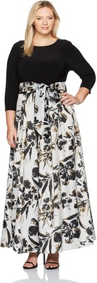 Eliza J Women's Plus Size Printed Ballgown