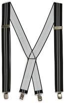 Topman Black and Gray Stripe Suspenders