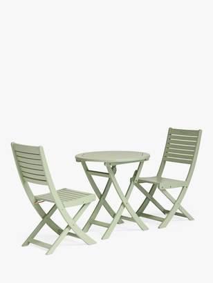 Kettler RHS Rosemoor Garden Bistro Table & Chairs Set, FSC-Certified (Eucalyptus Wood), Sage