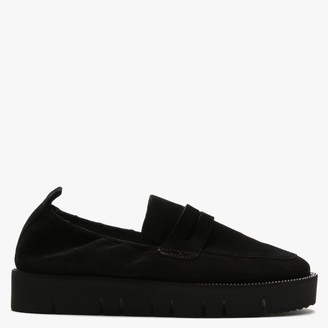 Kennel + Schmenger Cleasden Black Suede Cleated Loafers